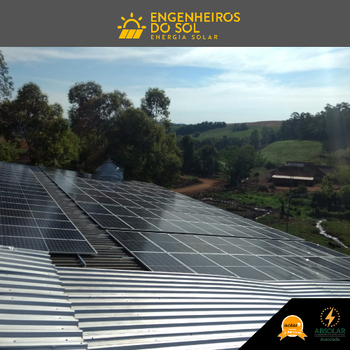 Projeto Energia Solar - Sistema fotovoltaico de 108 painéis - Humaitá - SC