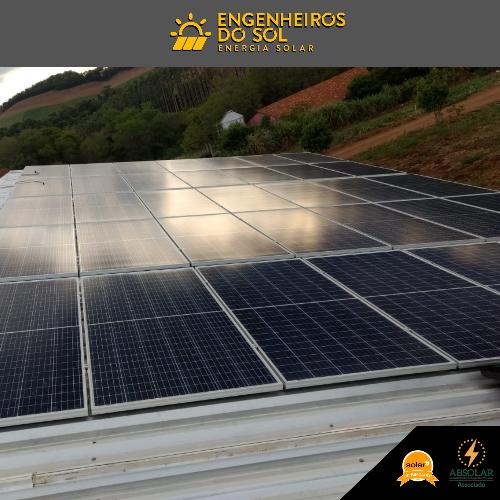 Projeto Energia Solar - Sistema Fotovoltaico de 50 painéis - Nova Candelária - RS