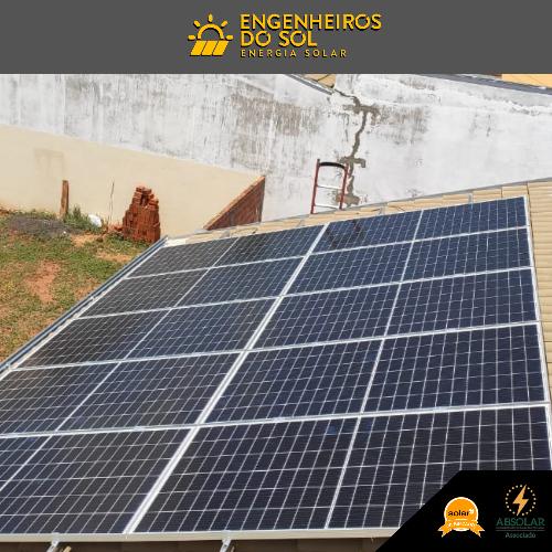 Projeto Energia Solar - Sistema Fotovoltaico de 10 placas - Rancharia - SP